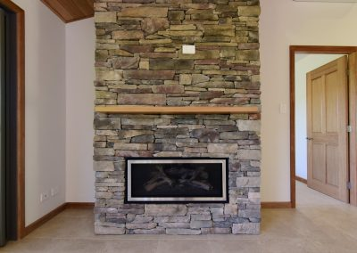 Far Meadow Cottage fireplace